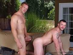 Free gay male videos of two hot muscle gay men fucking outdoors
