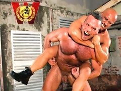 1 video 8 photos of MILITARY WRESTLING Newcomer Greg Wilson v Nico Blade Newcomer mature hairy soldier,Greg, is playing with himself instead of cleani