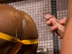 This full-on threesome features three porn star favorites in one seriously kinky encounter. Beginning with two mysteriously leather-clad dog-boys...