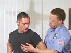 Big dicked police officer gives it to a hardened criminal in his tight asshole