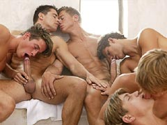 Amazing video gallery of a great group sex orgy these hot guys are enjoying