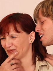 She cant get enough of hard young dick in her tight granny body and he delivers it