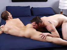 Hairy muscle men fucking hard on the bed