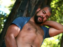 Roman is a big, stunning, friendly cub who just loves sexy daddy bears. He's got a big 'ol rock hard dick to show you just how much. We met