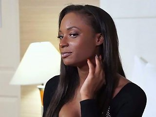 Fantastic Lubed Big Breasted Ebony Nympho Sarai Minx Is Poked Missionary