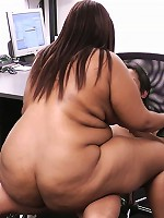 Black plumper fucks at work seducing her boss and fucking up his engagement