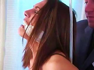 Nina Is Tied Up Naked And Gets Knocked Out For What Cums Next