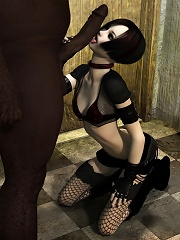 Ladylove with perky nipples was nailed by pervert 3D Orc