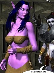 Adult 3D fantasy comics