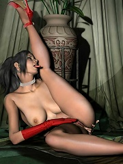 Pretty 3D Boss riding Lord and eating creamy cum