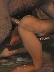 Leila felt a warm sperm inside her perfect body