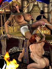 Ravishing Toon mistress strokes hard dick