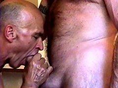 Feeding the old man a hard cock