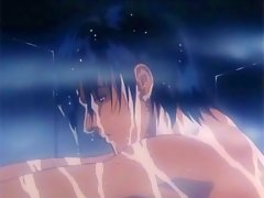 Sexy young gay hentai boy taking a shower with naked body