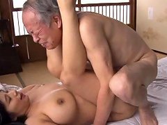Hot Asian Slut Getting Her Muff Pleasured By An Old Dude
