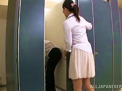 Stunning Japanese Nurse Gives Passionate