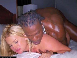 Blonde Chubby Mature Seduced Ebony Man To Fuck