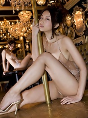 Two mouth watering asian beauties look delicious in lingerie