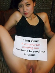 slutty chinese girls asks people to distribute her pictures