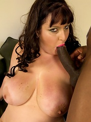 Nicoletta takes a nice big black cock all up in her wet juicy BBW pussy and loves it!