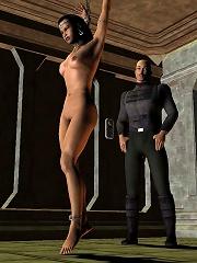 Sexy 3D actress gets hot...