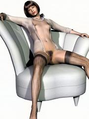 Lovely 3D Secretary roped...