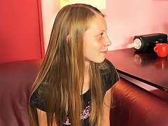 Nervous Casting Cutie Sandra Is Filmed While Sucking And