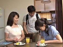 Hairy Japanese Milf Rides Teens Stiff Rod