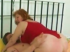 Fat Mature Slut Sitting On His Cock Meat