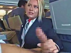 Stewardess Sucking Cock On A Plane