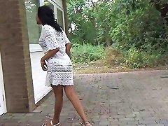 Flashing Ebony MILF Mels Black Public Nudity And Outdoor Upskirts