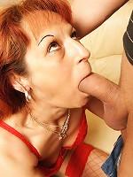 Horny mama getting a warm creampie