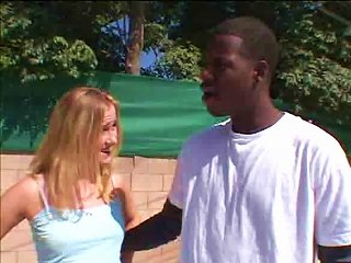 Young Blond On A Black Dick Teen Video
