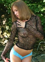 Amazing Teen Cutie In Fishnet Top And A Hot Hot Asssss Teen Porn Pix