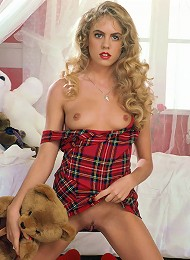 Tartan Dressed Virgin Strips Naked On Bed Teen Porn Pix