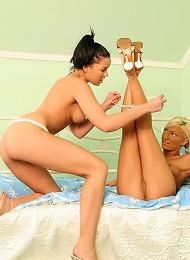 Lara And Szabina - Enticing Teens Lick And Dildo Twats Teen Porn Pix