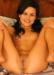 Brunette With Pigtails Spreads Legs And Gets Her Pussy Stuffed Teen Porn Pix
