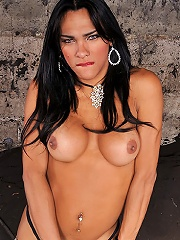Jo Garcia and her huge tranny cock