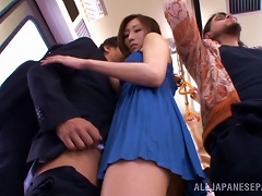 BravoTube Video - Frottage And A Blowjob On The Train From A Beauty