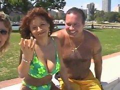 XHamster Video - Two Mature Amateur Sluts Suck Each Others Tits
