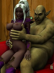 The World of Porncraft 3D monster railingd that wonderful babe is really fierce