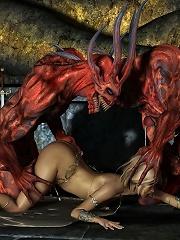 Innocent 3D Bitch gets stuffed by Partner