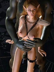 Pervert 3D Girlie with hard toy in the bathtub