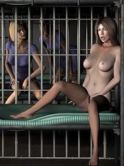 Nervous 3D Girlie pleasures 3D Beasts cock