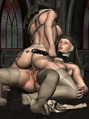 Amazon riding 3D Mutant and bursting climax