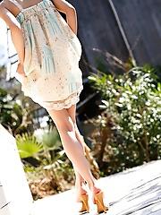 Tina Yuzuki cute Asian teen model shows off hot sexy body in lingerie